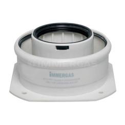 Фланець прямий коаксіальний для конденсаційних котлів Immergas ø60/100 мм 3.012086