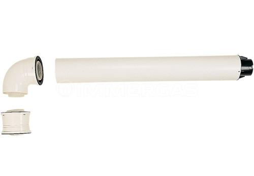 Коаксиальный дымоход для конденсационного котла горизонтальный Immergas ø80/125 мм 3.015242