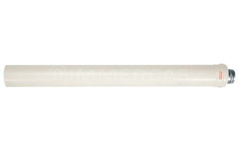 Труба-подовжувач коаксіального димоходу конденсаційна Immergas L=1 м ø80/125 мм 3.018667